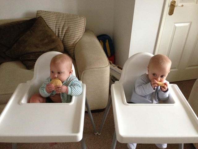 Baby led weaning and twins