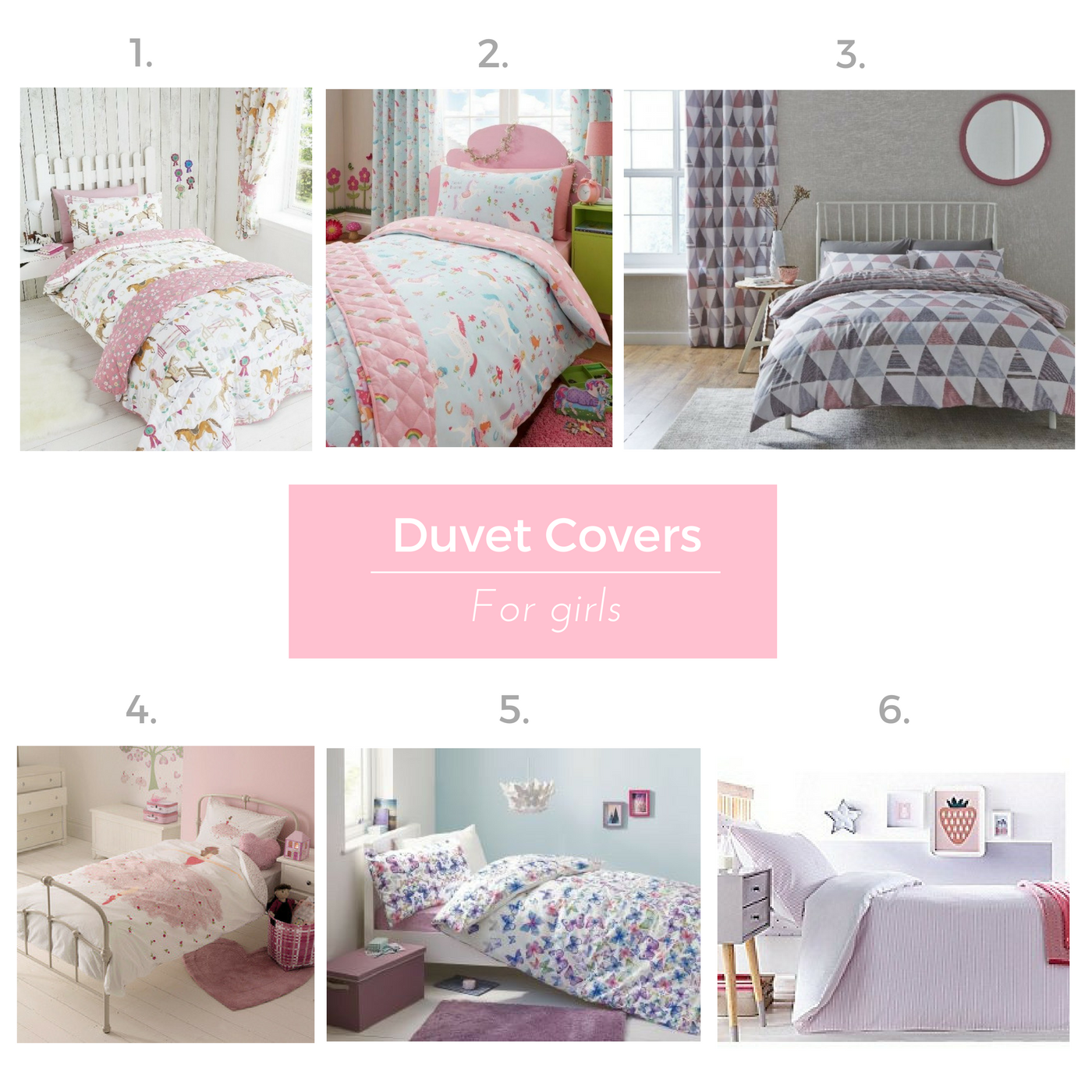 Duvet covers for girls