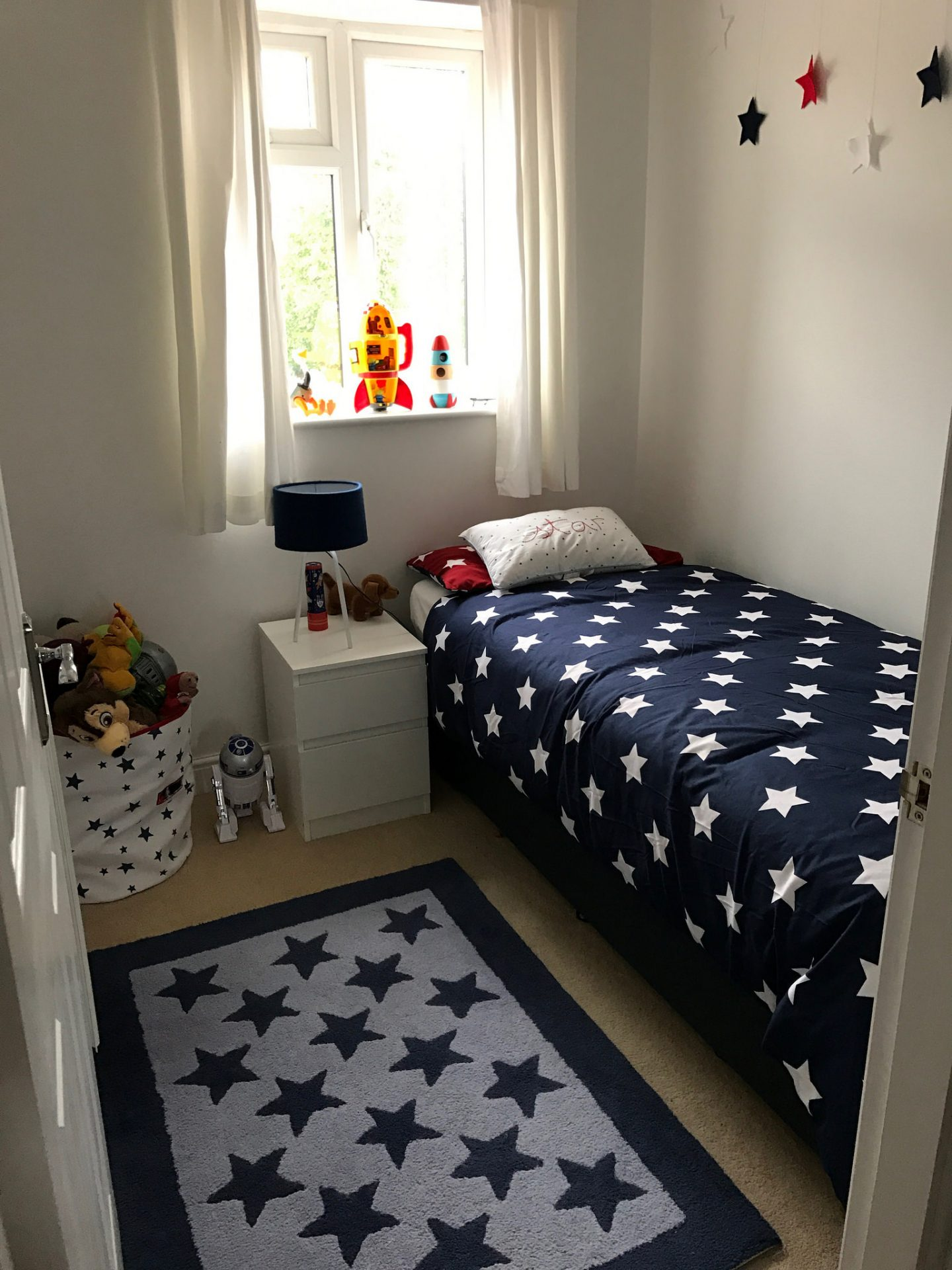 A space themed boy's bedroom