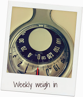 Weekly weigh in – success!