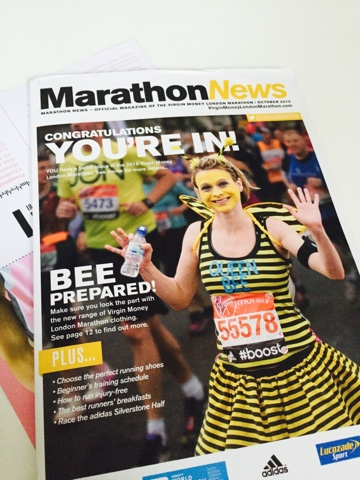 """""""You're In"""" – I'm running the London Marathon!"""