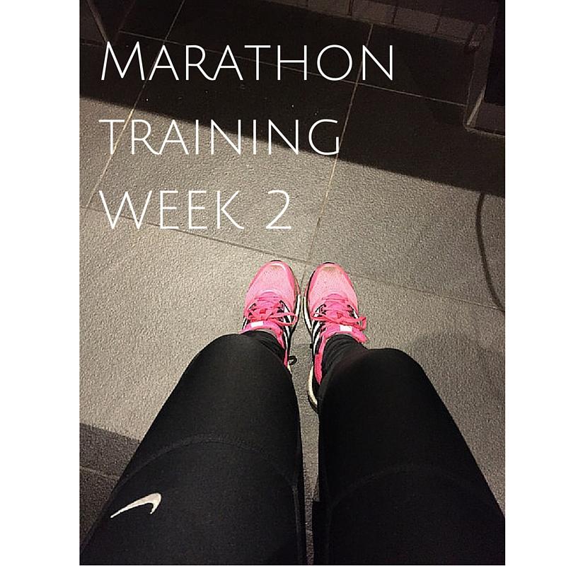 London Marathon training week 2 – weightloss, cross-training and snow!