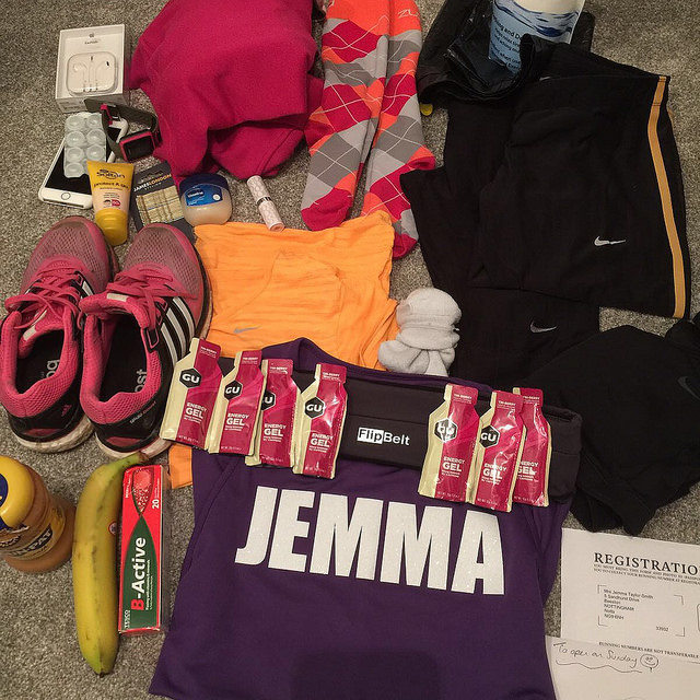 Packing for a marathon – 2 days to go!