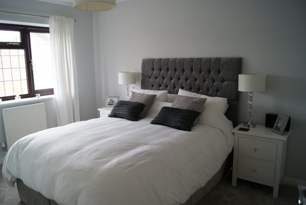 Calming grey bedroom