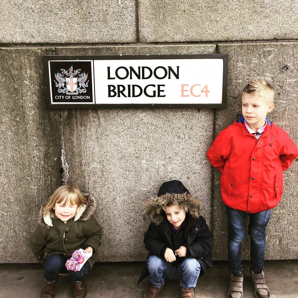 A family day in London