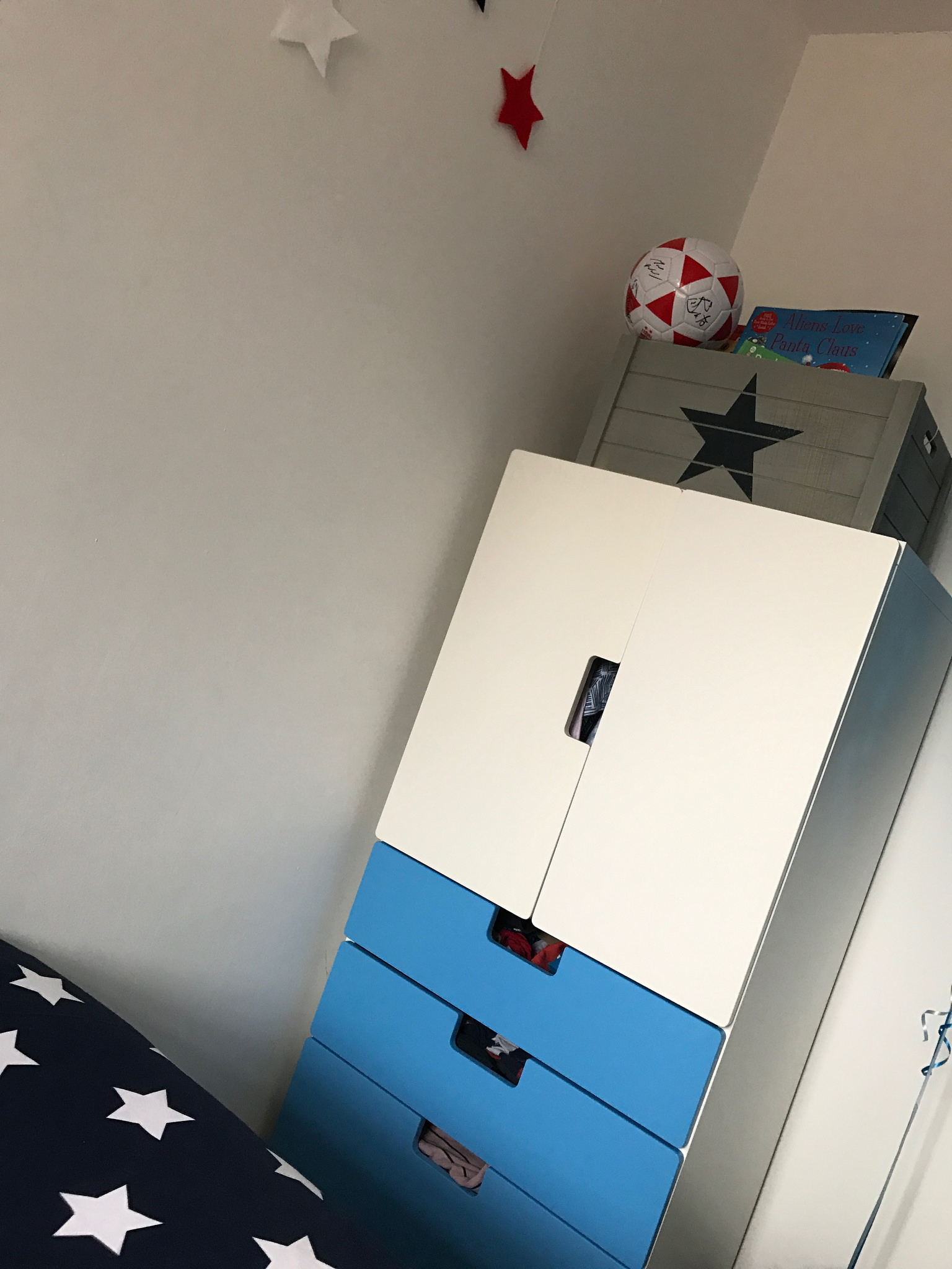 Space themed boy's bedroom