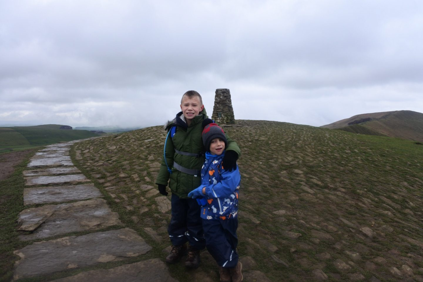 Mam Tor with kids